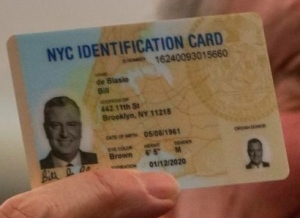 NYC Mayor Bill De Blasio's IDNYC card. source: nydailynews.com
